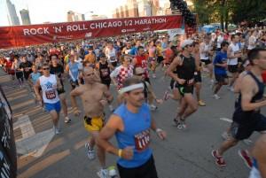 Chicago RNR med shot of runners