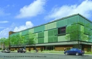 Rendering of the proposed garage courtesy of Tawani Enterprises