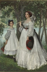"James Tissot. ""The Two Sisters,"" also called ""Portraits in a Park,"" 1863. Musée d'Orsay, Paris, gift of Albert Bichet, 1904, RF 2788."