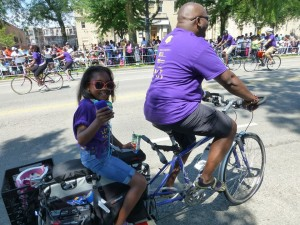 Bike Brozeville members in the Bud Billikin Parade. Photo: Bronzeville Bikes.