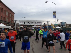 Runners finishing the 18th annual Ravenswood Run/Photo: Zach Freeman