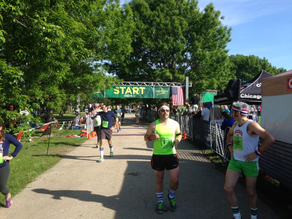 Runners cross the finish line at The Original 5K/Photo: Zach Freeman