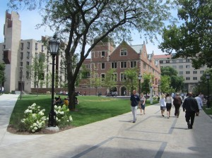 This green space and walkway replaced the post office and a cul-de-sac. Photo: John Greenfield