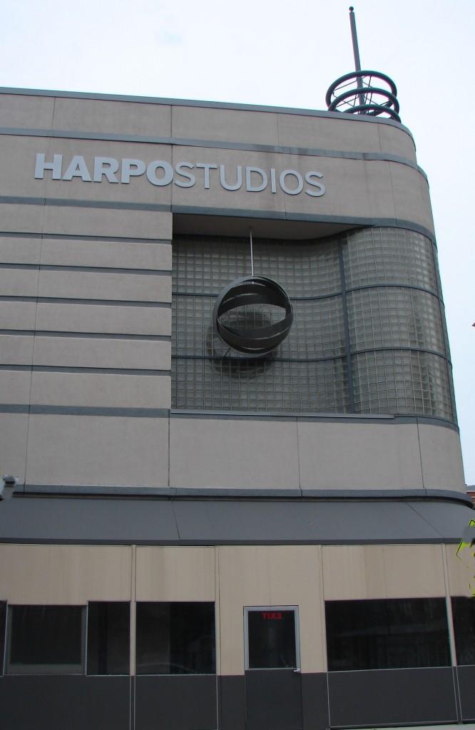 Harpo Studios building entrance and facade