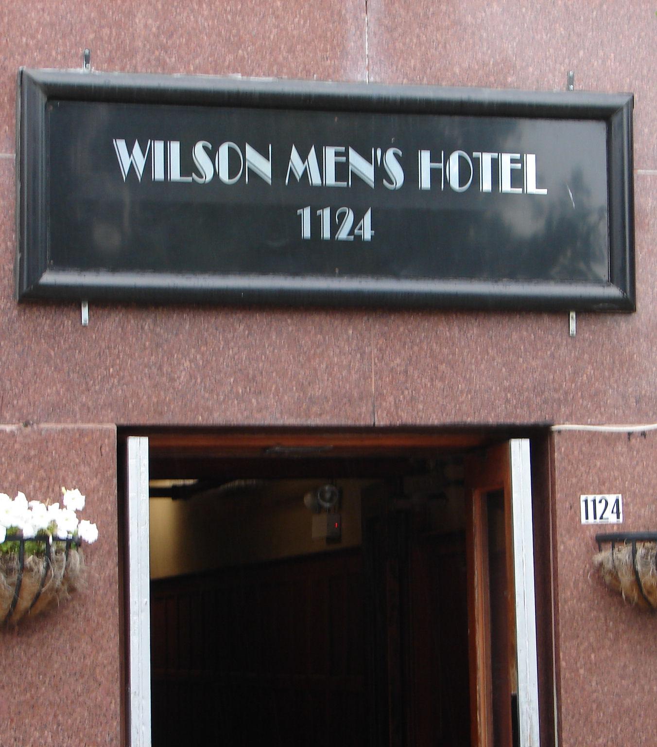 Entrance of Wilson Men's Hotel