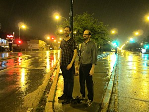 Rob Reid and Mike Filipinski at Elston and Milwaukee.