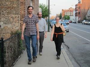 Rob Reid, Mike Filipinski and Elisa Addlesperger on the 2900 block of North Elston.