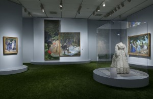 """Installation shot of """"Impressionism, Fashion, and Modernity"""" at the Art Institute of Chicago"""