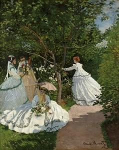 """Claude Monet. """"Women in the Garden,"""" 1866. Musée d'Orsay, Paris, RF 2773."""