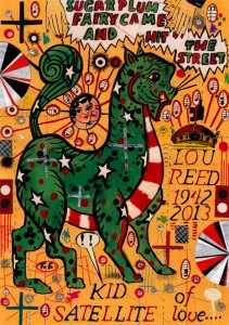 Lunch Drawing #20 Kid Satellite of Love (Magic Cat for Lou Reed) by Tony Fitzpatrick