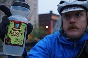 The Malört water bottle. Photo: Tim de la Motte