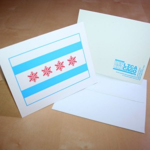 Chicago Snow Flag