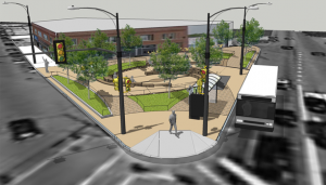CDOT rendering of the new plaza.