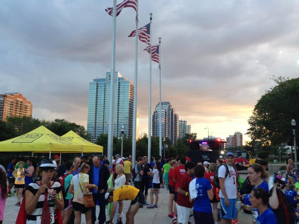 Runners enjoy the post-race party/Photo: Zach Freeman